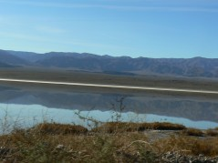 Somehow this picture of a reflection seemed appropriate for the posting. Taken close to Ballarat ghost town, west from Death Valley NP.